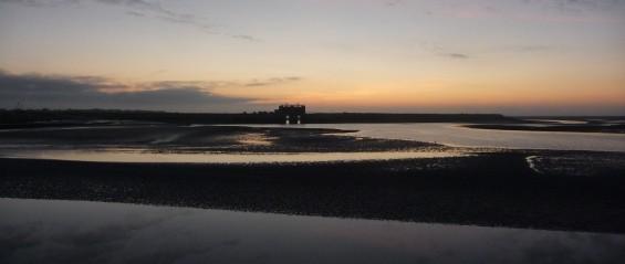baie de Somme au soleil levant...