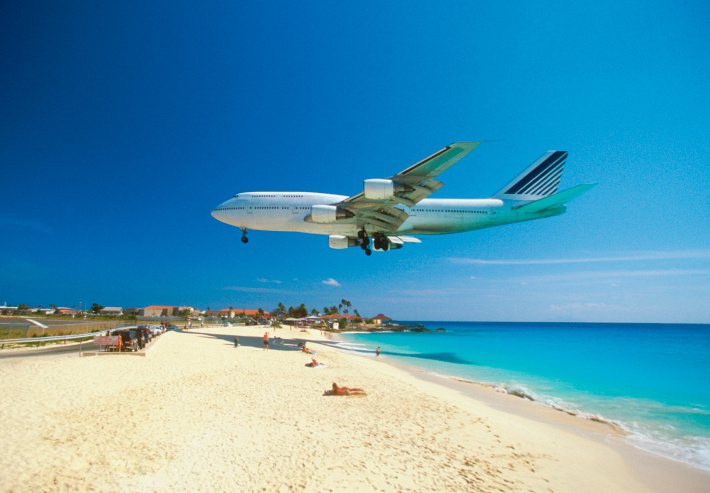 Coming In For Landing On Maho Bay Beach
