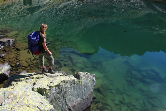 Portraits de Chantal Bonglia en rando montagne