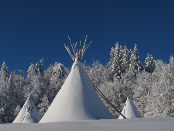 les Bauges version tipi HIvernal