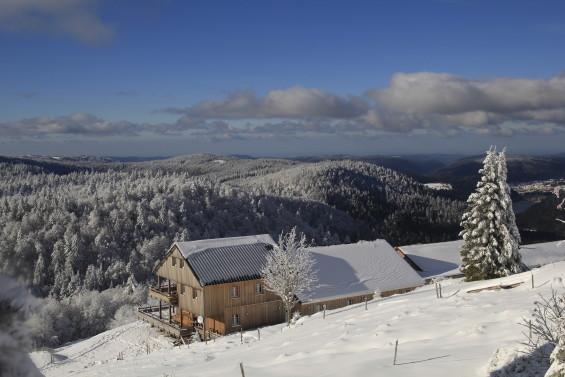 paysage d'hiver sur le refuge
