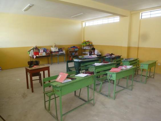 Une salle de classe flambant neuve