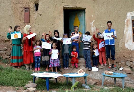 un atelier destiné aux enfants, pour permettre à ceux ci de s'exprimer via l'écrit, le dessin
