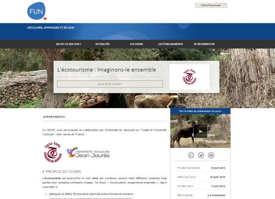 UN MOOC ecotourisme très attendu dès le 29 mai