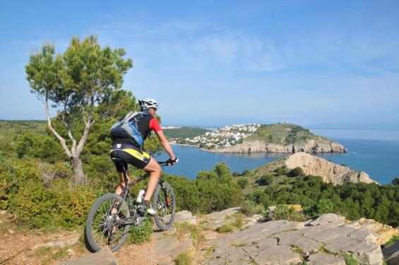 un circuit VTT entre Collioure et Cadaques