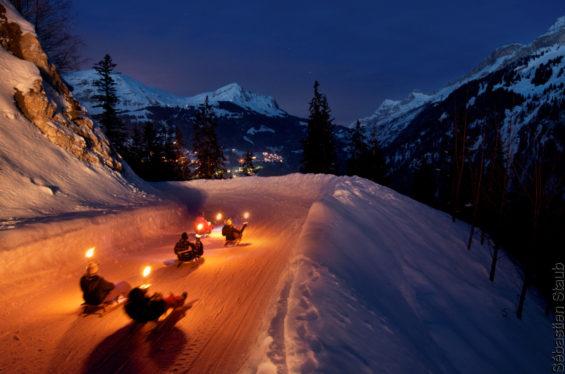 La luge, activité très prisée dans les montagnes Suisse (crédit C. Staub)