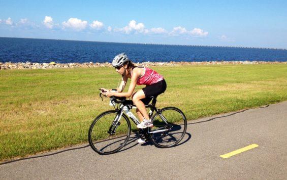 Sur les routes à vélo