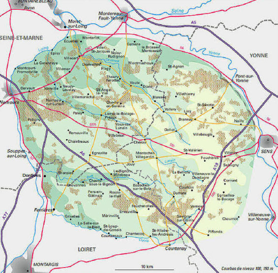 Carte du Gatanais