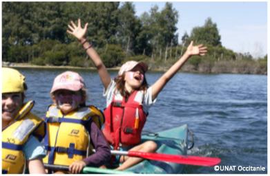 Colonie lac kayak