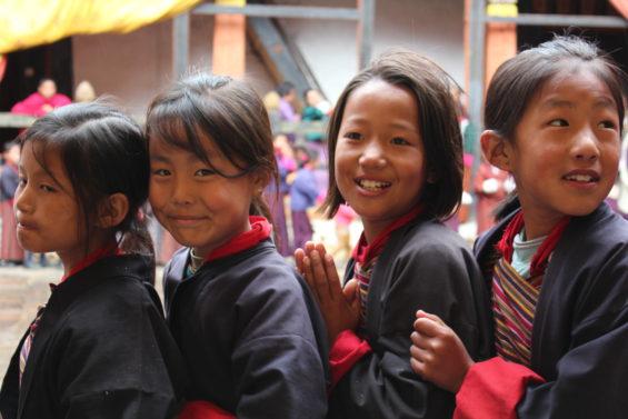 Bhoutanais en route pour le festival