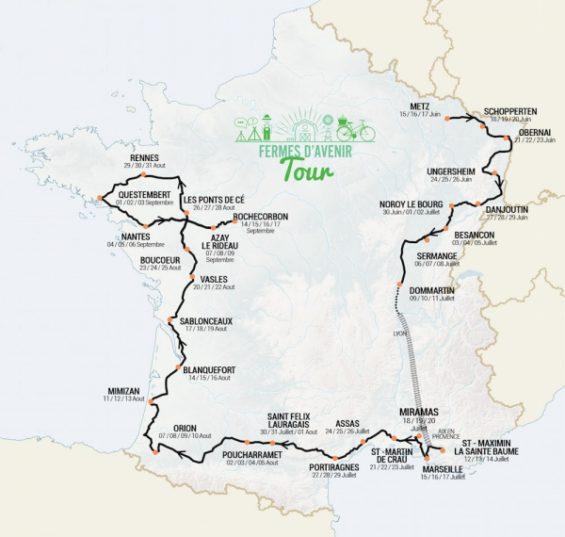 tracé du Fermes d'Avenir Tour (F.A.T)