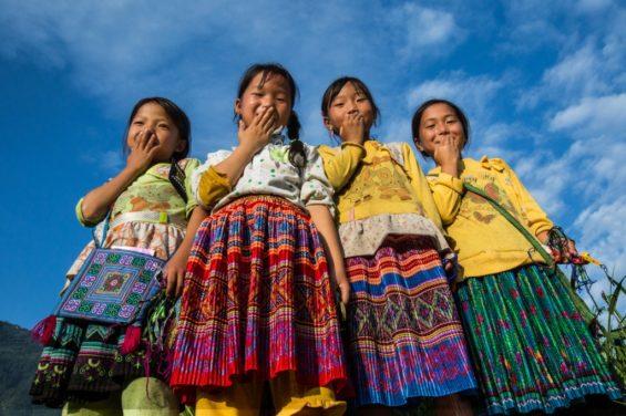 Sourires de jeunes filles Hmong -Sapa - Réhahn