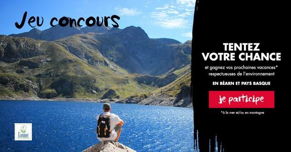 Bannière du jeu concours Béarn Pyrénées / Pays Basque 2019