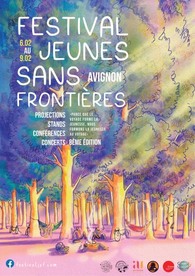 Affiche 2020 du Festival Jeunes Sans Frontières