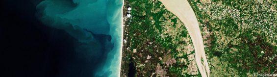 vue satellite d'une côte française