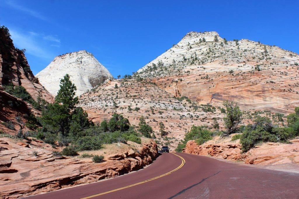 En route pour le parc naturel de Zion