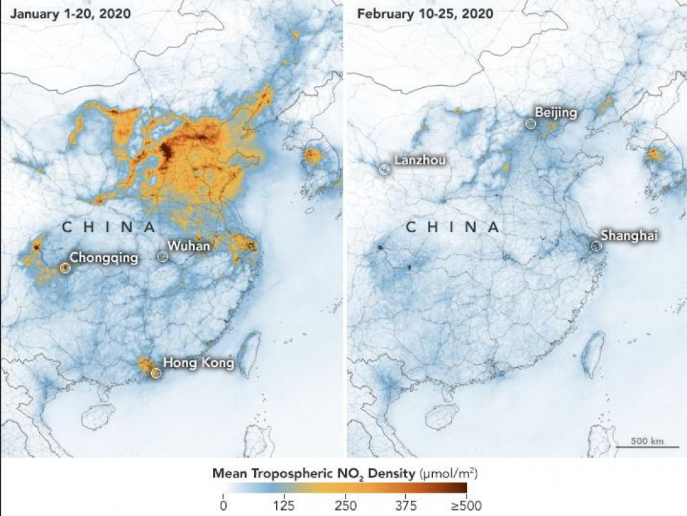 coronavirus chine pollution