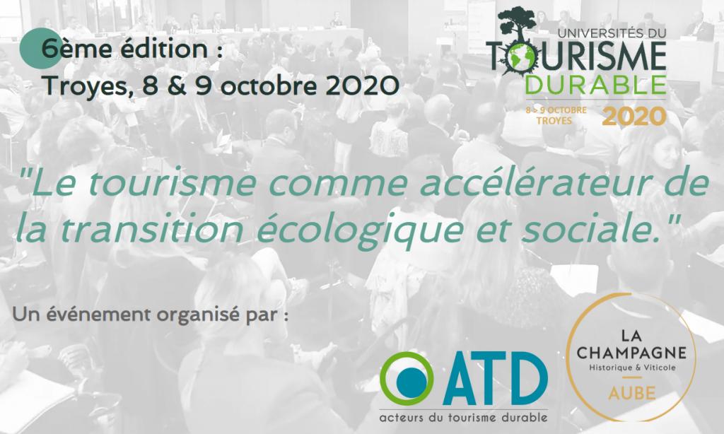 Universités du tourisme durbale, le tourisme comme accélérateur de la transition écologique et sociale