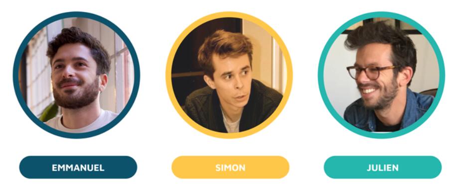3 cofondateurs de Carbo, Emmanuel Watrinet – le designer marketeux, Julien Janson – le geek innovant et Simon Létourneau – le businessman éconologue