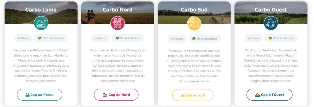 L'appli Carbo permet d'être accompagné du calcul à la compensation carbone