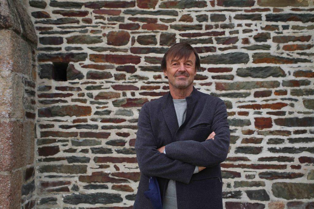 """Nicolas Hulot à la conférence """"Agir pour la planète"""" le 17 octobre 2020, organisée par la Fondation du Mont-Saint-Michel au Prieuré d'Ardevon"""