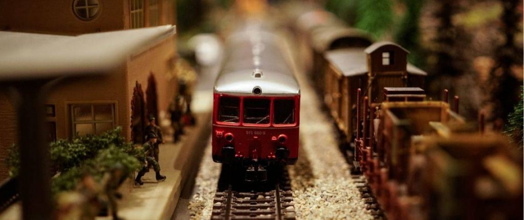 Train de nuit, maquette de train miniature