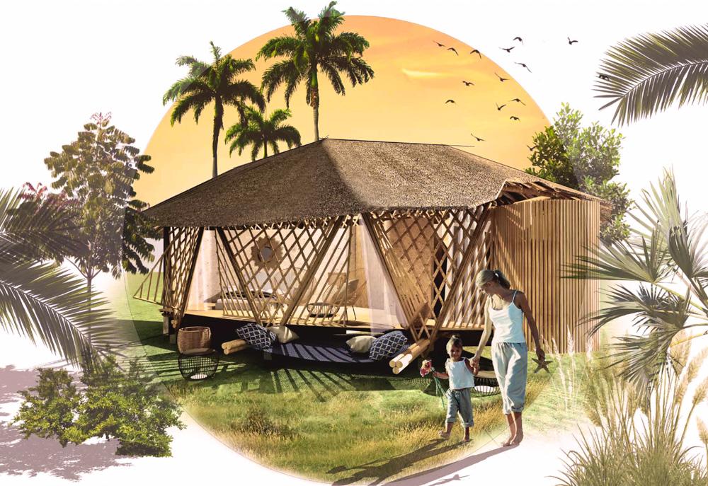 Dessin des villas d'Una Bambu