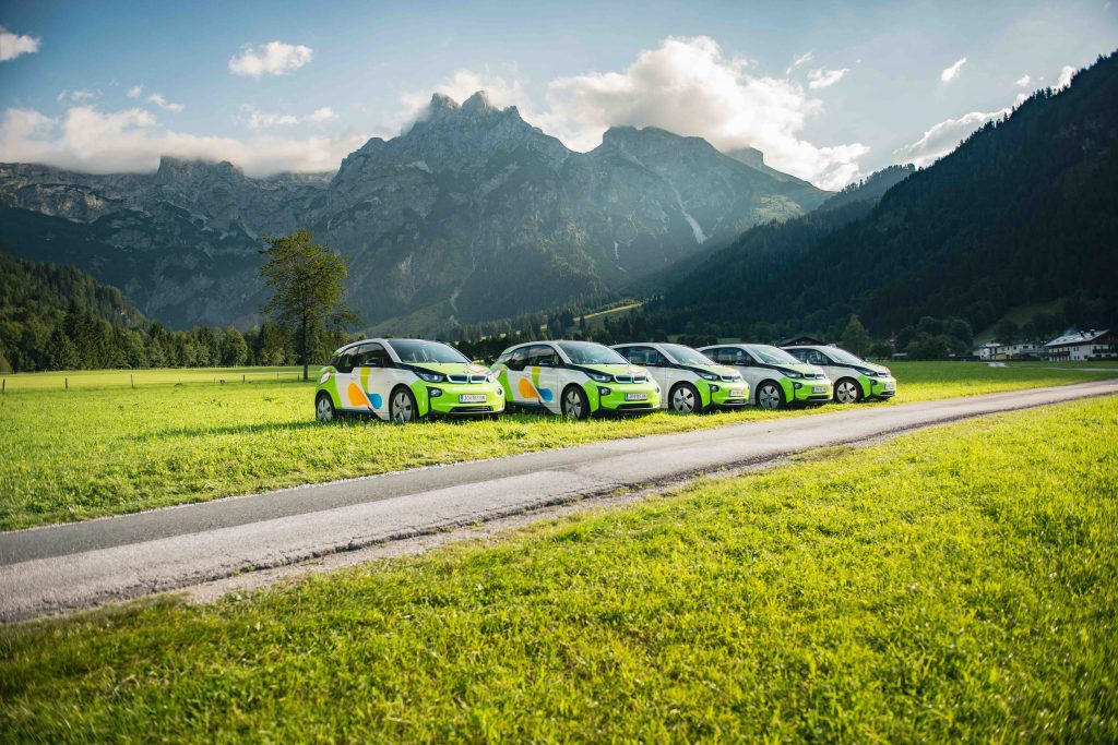 Alpine Pearls promeut la mobilité douce - Voitures électriques © TVB Werfenweng_Christian Schartner