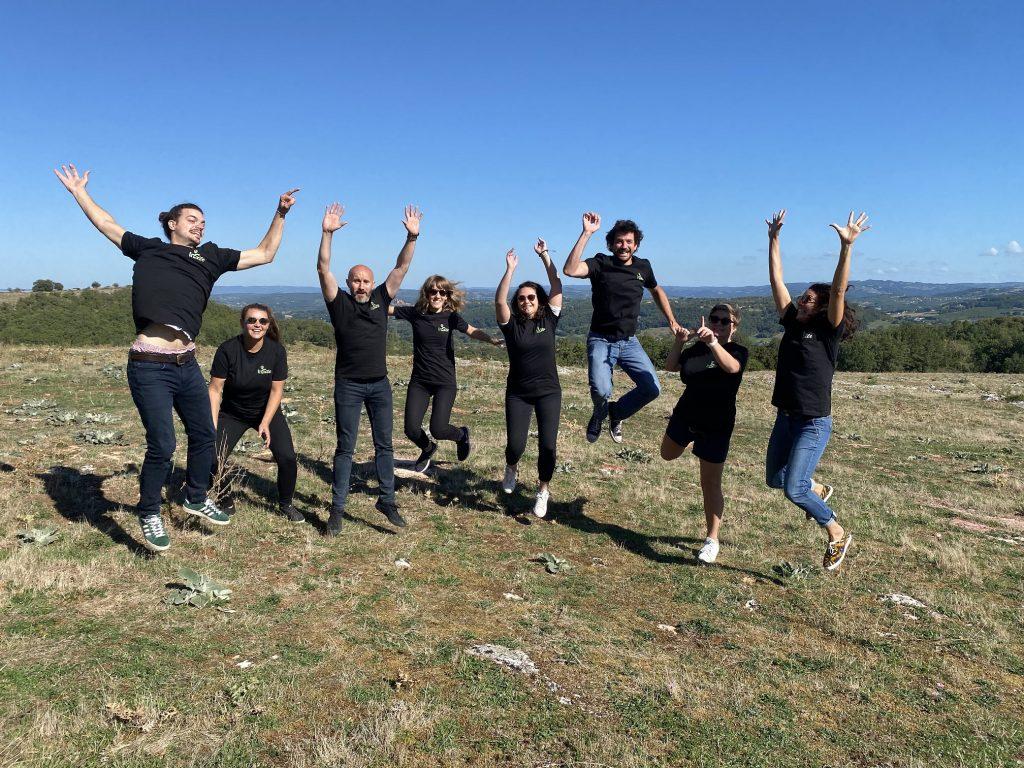 l'équipe d'InSite folle de joie