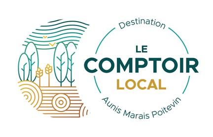 """Logo """"Le Comptoir Local"""" de la destination Aunis Marais-Poitevin"""