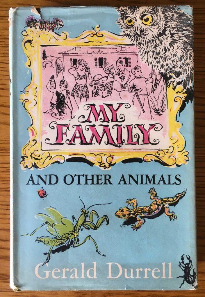 Premiere édition de Ma Famille et autres animaux sortie en Angleterre en 1956