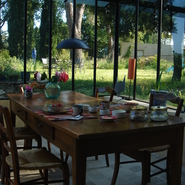 Petit déjeuner à l'abri du vent
