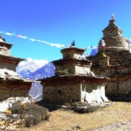 Népal Stupas d'altitude